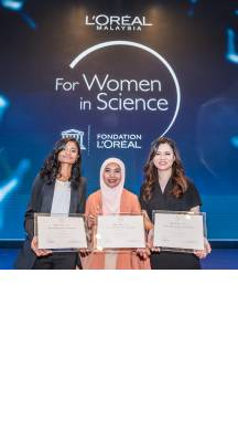 L'Oréal-UNESCO fellowship For Women in Science national awards was presented to three inspiring Malaysian women scientist